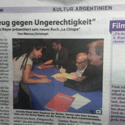 Nota periódico alemán Argentinisches Tageblatt